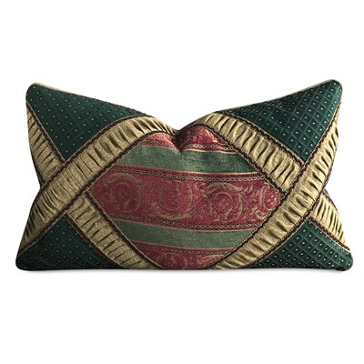 Rudd Ruched Embellished Jacquard Decorative Pillow Cover