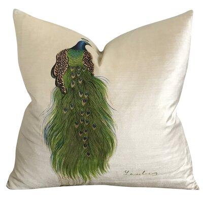 Becknell Peacock Handpainted Luxury Decorative Velvet Pillow Cover