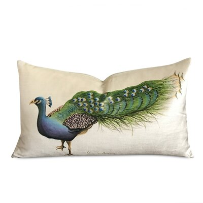 Beckwith Handpainted Peacock on Artisan Lumber Velvet Pillow Cover