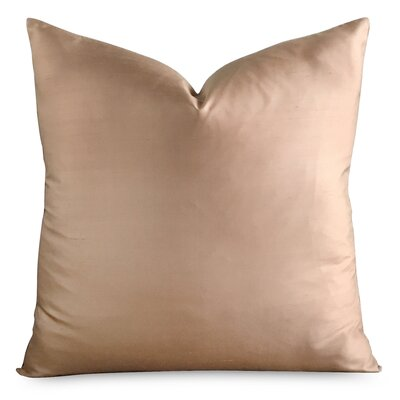 Mossman Luxury Solid Champagne Decorative Silk Pillow Cover