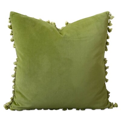 Beckham Velvet Pillow Cover Color: Lime Green