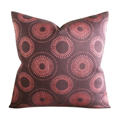 Pruett Circular Geometric Luxury Woven Decorative Pillow Cover