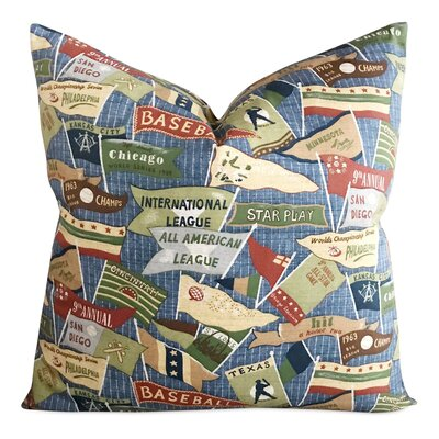 Icenhour Vintage Baseball Print Decorative Pillow Cover