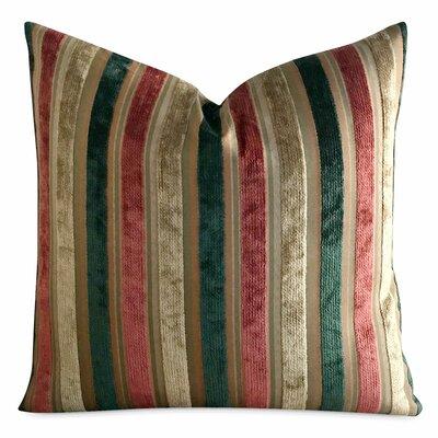 Jefcoat Striped Textured Luxury Decorative Velvet Pillow Cover