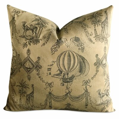 Bedford Exotic Vintage French Tapestry Bon Voyage Luxury Woven Decorative Pillow Cover