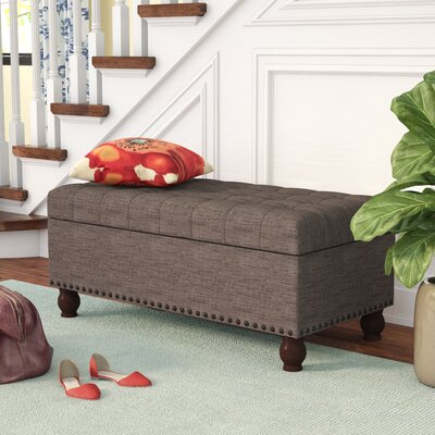 Gourley Fabric Storage Bench Upholstery Color: Brown