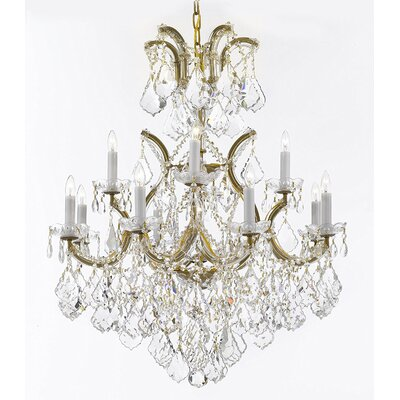 Alvarado 13-Light Candle-Style Chandelier Finish: Gold