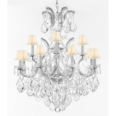 Alvarado 13-Light Candle-Style Chandelier Finish: Silver