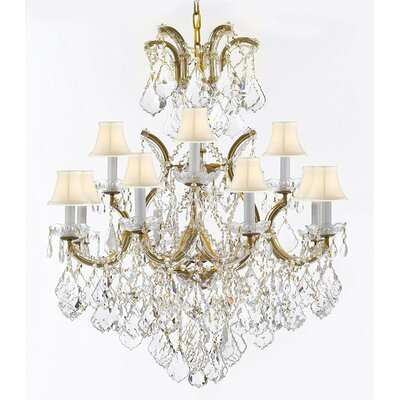 Dacia 13-Light Crystal Chandelier Finish: Gold