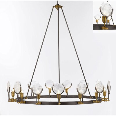 Eaglin Vintage Barn Metal 15-Light Candle-Style Chandelier