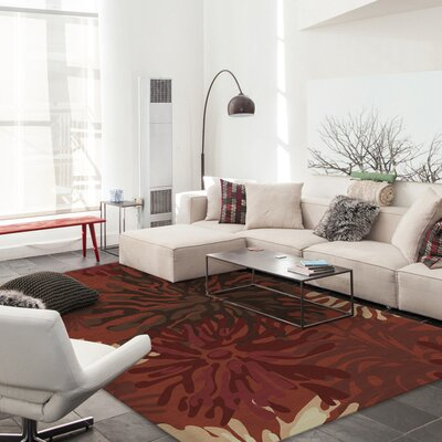 Stain Resistant Red Indoor/Outdoor Area Rug Rug Size: Rectangle 8 W x 10 L