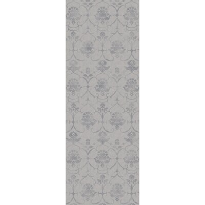 Stain Resistant Gray Indoor/Outdoor Area Rug Rug Size: Runner 25 W x 7 L