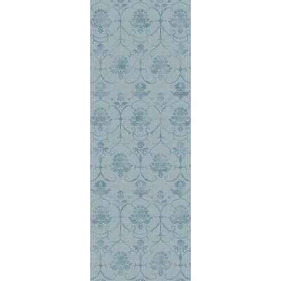 Stain Resistant Blue Indoor/Outdoor Area Rug Rug Size: Runner 25 W x 7 L