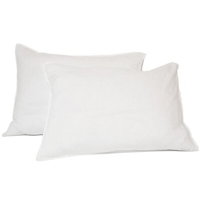 Linen Sham Size: King, Color: White