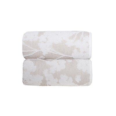 Sainfoin 6 Piece Towel Set Color: White