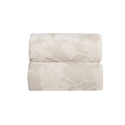Sainfoin 2 Piece Bath Sheet Set Color: Natural