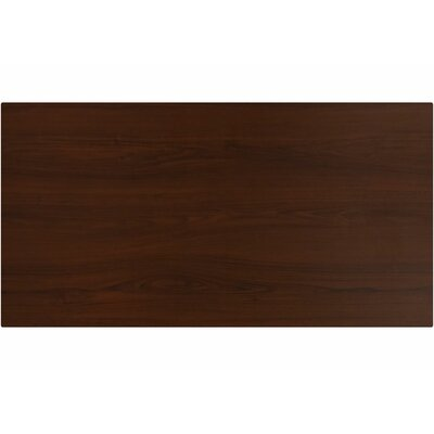 Koch Rectangle Laminate Table Top Color: African Walnut