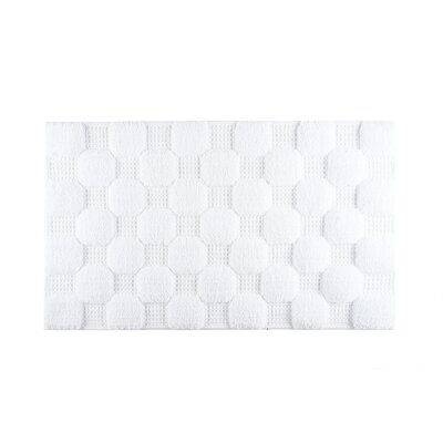 Hizer Chess Bath Rug Size: Large, Color: White