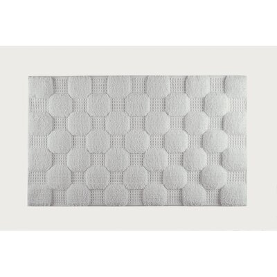 Hizer Chess Bath Rug Size: Large, Color: Silver