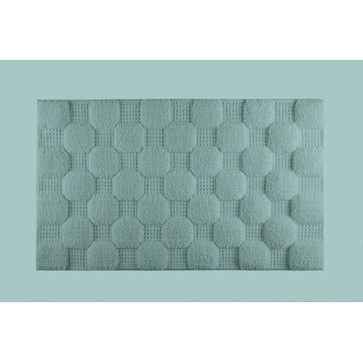 Hizer Chess Bath Rug Color: Baltic, Size: Large