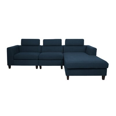 Lundberg Modern Deep Seated Chaise Modular Sectional Finish: Navy Blue