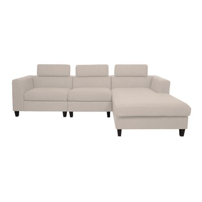 Lundberg Modern Deep Seated Chaise Modular Sectional Finish: Wheat
