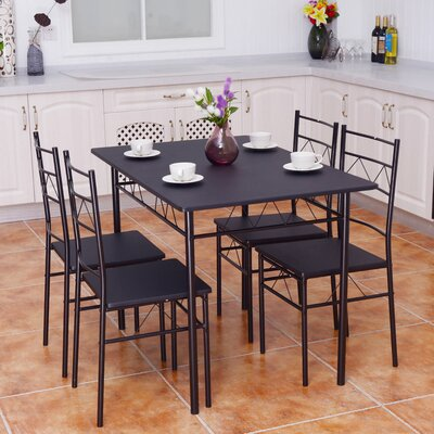 Helfer 5 Piece Breakfast Nook Dining Set
