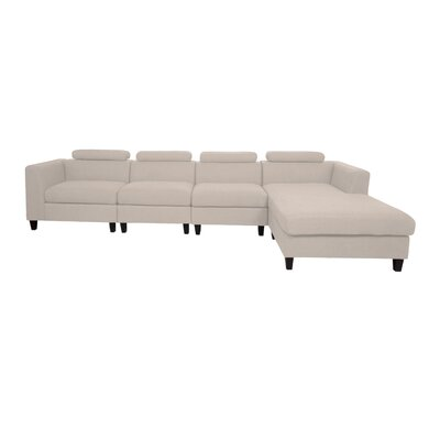 Lundberg Modern Extended Deep Seated Chaise Modular Sectional Finish: Wheat