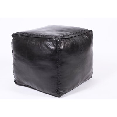 Citadel Stitch Leather Cube Ottoman