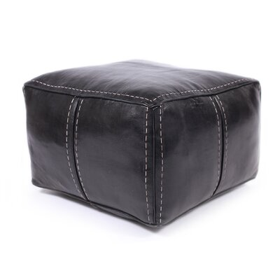 Citadel Leather Stitch Pouf
