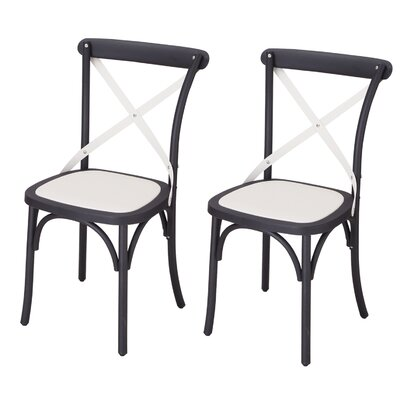 Jen Vintage Dining Chair Color: Black