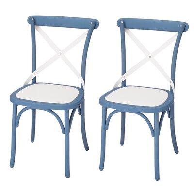 Jen Vintage Dining Chair Color: Blue