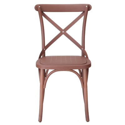 Abdallah Vintage Dining Chair Color: Brown