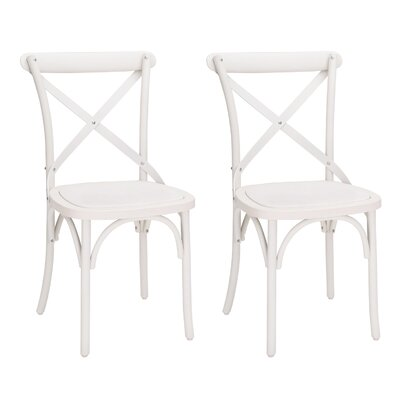 Abdallah Vintage Dining Chair Color: White