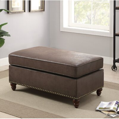Faughil Cocktail Ottoman Upholstery: Dark Coffee