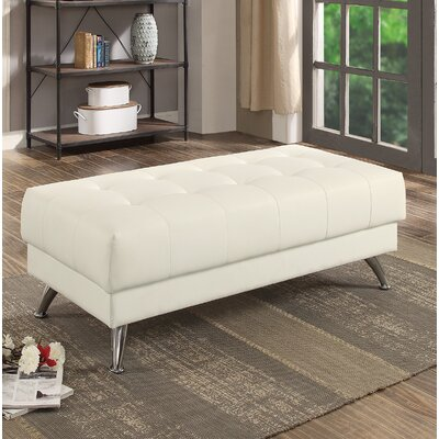 Strock Cocktail Ottoman Upholstery: White