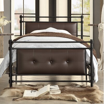 Farkas Twin Upholstered Platform Bed