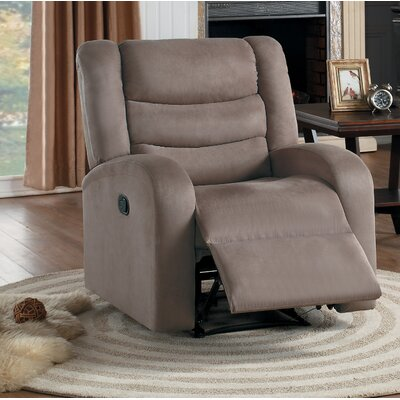 Farleigh Hungerford Manual Recliner Upholstery: Brown