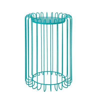 Mcnelly End Table Color: Matte Teal