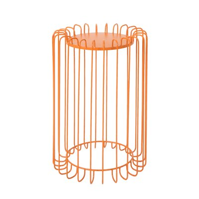 Mcnelly End Table Color: Orange