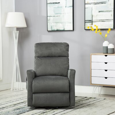 Haller Lift Chair Power Recliner Upholstery: Blue Gray