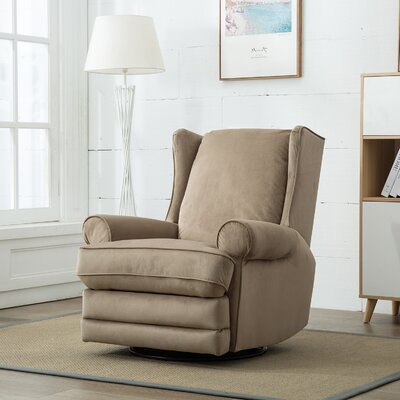 Halpin Modern Wingback Swivel Gliding Manual Recliner Upholstery: Sand
