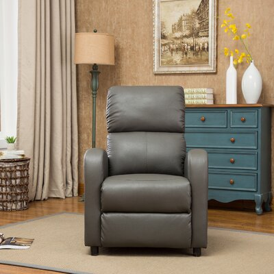 Hallett Manual Recliner Upholstery: Light Gray