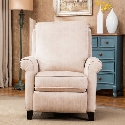 Hallatrow Manual Recliner Upholstery: Cream