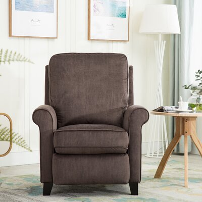 Hallatrow Manual Recliner Upholstery: Light Brown