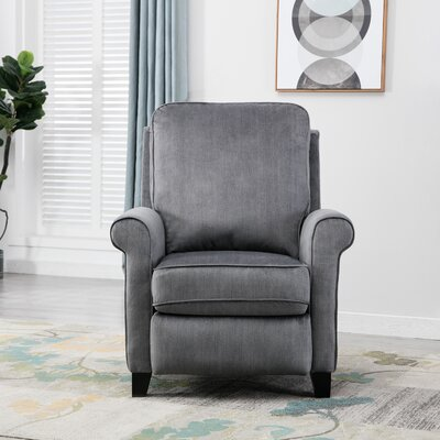Hallatrow Manual Recliner Upholstery: Blue Gray