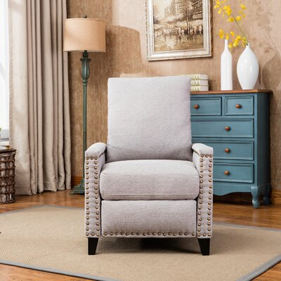 Hallam Push Back Manual Recliner Upholstery: Beige