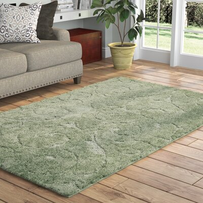 Archer Lane Floral Green Area Rug Rug Size: Rectangle 9 x 12