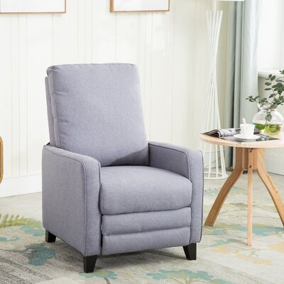 Halford Manual Recliner Upholstery: Gray