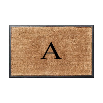 Fooks Molded Double Monogrammed Doormat Letter: A